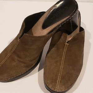 Cole Haan country olive slip on clog